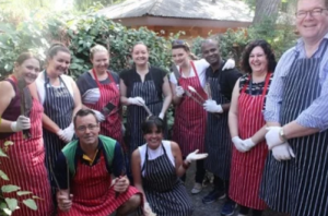 group picture after cooking