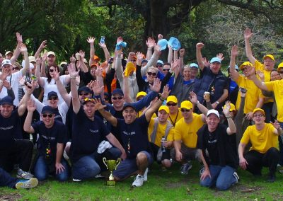 three teams group photo