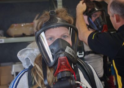 woman in an oxygen mask