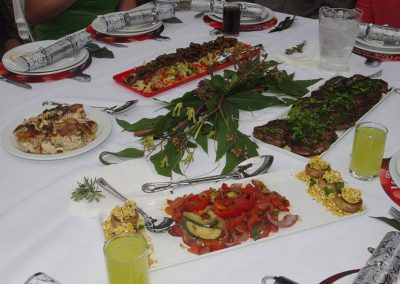 food presentation on the table
