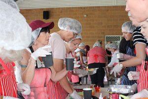 charitable team building activities on kitchen