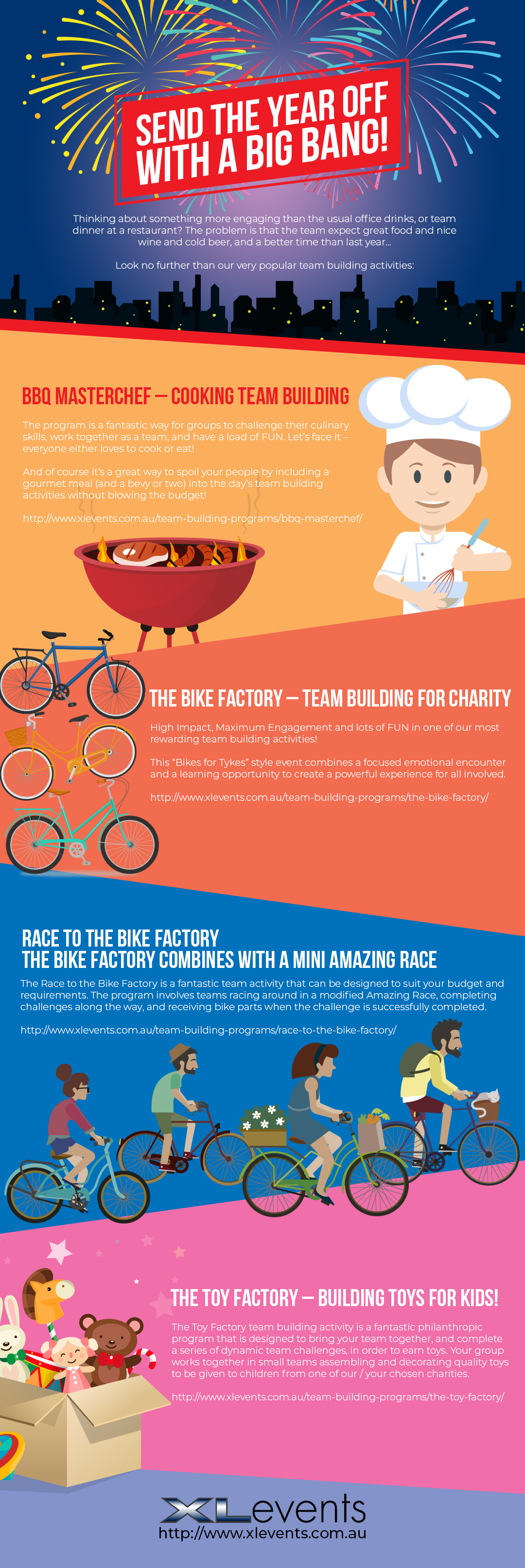 Infographic Christmas Team Building Activities