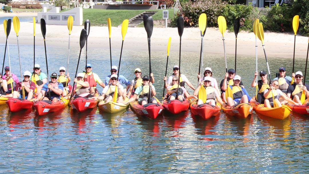 people on kayak