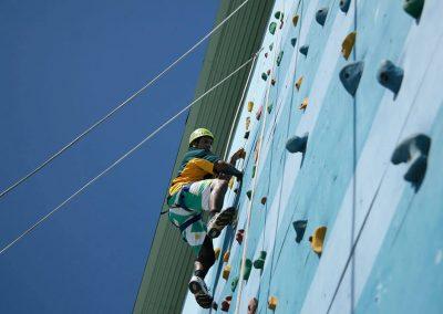 wall climbing activity